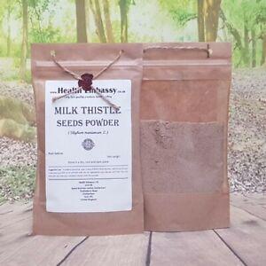 Milk Thistle Seeds Powder 100g (Silybum marianum) - Health Embassy 100% Natural