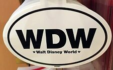 WDW Logo Oval Sticker Auto Car Decal Walt Disney World Theme Parks NEW