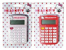 Cute Hello Kitty Calculator KT-8 Red School Office 8 Digit Small Work Travel New