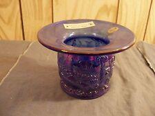 Fenton Seacoast Spittoon - Blue Carnival Glass - 1999 ACGA Piece Item 196