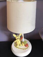 Vintage Bunny Rabbit Nursery Room Lamp Wood Child Room Children