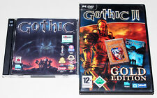 2 PC juegos set-Gothic I & II Gold Edition - 1 2-la noche del cuervos