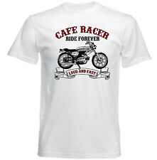 VINTAGE Italian Motorcycle BENELLI CAFE RACER-Nuovo T-shirt di cotone
