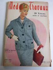 magazine Modes et Travaux n° 712  Avril 1960 + patron