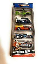Hot Wheels Five Pack Gift Pack Rescue Rods Fire Truck Ambulance Made 2008