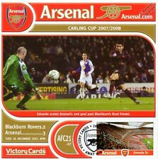 Arsenal 2007-08 Blackburn (Eduadro Da Silva) Football Stamp Victory Card #721