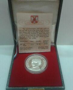 YUGOSLAVIA: silver commemorative coin proof 200 novih dinara 1996. NIKOLA TESLA