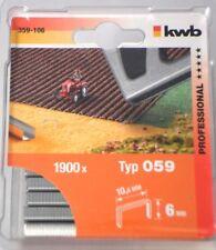 Tackerklammern 6mm, Heftklammern KWB Typ 59 / 059  6x10,6mm 3800Stk Neu!!