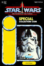 STAR WARS: POWER OF THE FORCE AT-AT Driver (1985) Repro Kenner Cardback