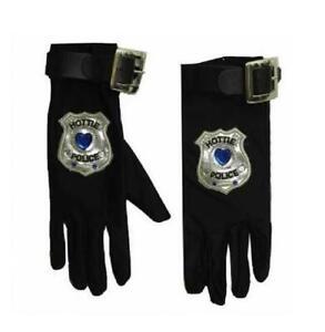 Handschuhe Fingerhandschuhe Armstulpen Polizei FBI SWAT Polizistin Kleid Kostüm