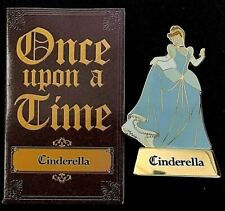 Disney Once Upon a Time Mystery Set Cinderella Pin & Storybook New Le 500