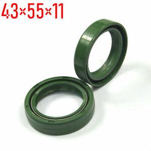 43X55X11mm Front Shock Fork Oil Seal Kit For KAWASAKI KX125 KDX200 KX250 KX500