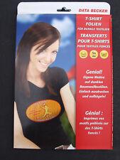 Data Becker T-Shirt Folien f. dunkle Textilien 5x Din-A4 40° Inkjet 0486