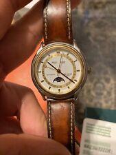 Vintage Favre Leuba Triple Calendar Moon Phase Automatic Watch, Very Clean Face