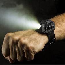 Lampada ricaricabile USB LED Light torcia tattica da polso+orologio+ bussola Acc
