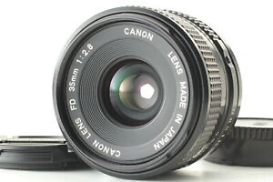 Wide Angle Lens With Rear Cap and Case for FD Mount V38 Canon FD 35mm f//2.8 S.S.C