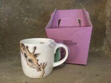 Wrendale Designs First Kiss giraffe bone china mug