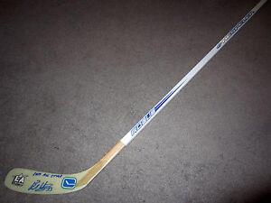 BO HORVAT Vancouver Canucks SIGNED Autographed Hockey Stick w/ COA 2017 All Star