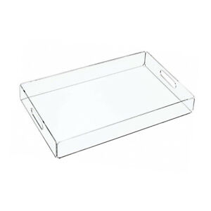 Acrylic Display Tea Table Tray Storage Plate Glass Makeup Serving Tray