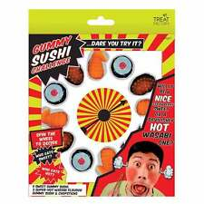 GUMMY SUSHI CHALLENGE FUN GAME WITH SPINNER, STRAWBERRY AND SUSHI SWEETS PARTY