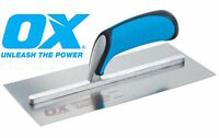 """OX Pro Stainless Steel Plasterers Trowel With Duragrip Handle 11"""" 14"""" 18"""" Sizes"""