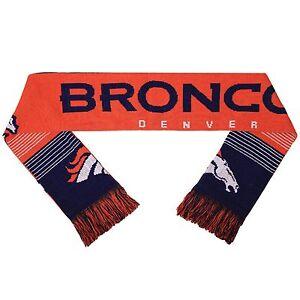 "NFL Denver Broncos 2015 Split Logo Reversible Scarf 64"" by 7"" by FOCO"