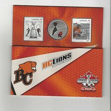 **2012**Canadian Football League Coin & Stamp Uncirculated Set, B.C. Lions