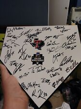 2018 Texas Tech Red Raiders Baseball Signed Team Home Plate College World Series
