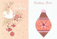 Christmas Boxed Cards - Dove with Ornaments - Pink Ornament - 24 Card Dual Pack