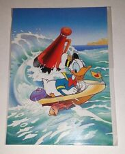DISNEY DONALD DUCK SAILOR SPEED BOAT POSTCARD PRINTED IN FRANCE CHROMOVOGUE