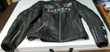 Womens Icon Kitty Black Leather Motorcycle jacket Size Large