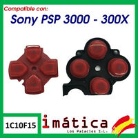 BOTONES DE REPUESTO PARA SONY PSP 3000 30004 ROJO ROJA GOMA CONTACTO CONTACTO