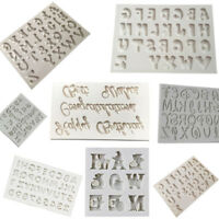 Alphabet Letter Silicone Cake Decorating Fondant  Icing Mould Sugarcraft Cutter