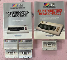 Commodore VIC-20   Introduction to Basic Parts 1/2 manuals, Cassettes   Untested