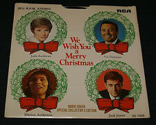 """We Wish You A Merry Christmas 4 song record 7"""" 33rpm Radio Shack 68-1968 P/S OOP"""