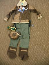 TeeTot & Co Aviator Halloween Costume FireFighter Kids Size 5/6 with Accessories