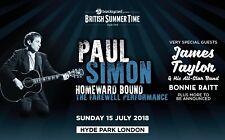 PAUL SIMON / JAMES TAYLOR / BONNIE RAITT 2018 UK CONCERT TOUR POSTER- 3 Legends!