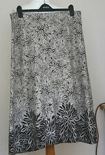 MAINE NEW ENGLAND (DEBENHAMS) (UK16 / EU44) BROWN/STONE LINEN-BLEND SKIRT