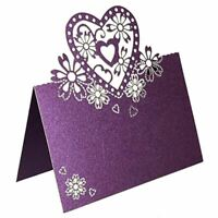 50pcs/lot Guest Name Place Invitation Cards Favor Decoration Wedding Love Heart