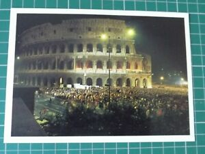Rome the Colosseum at Night Postcard