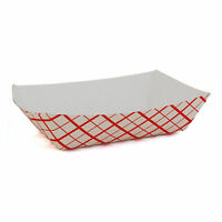 50 Checker Cardboard Paper Food Tray Concessions Superbowl Party 1lb. Heavy Duty