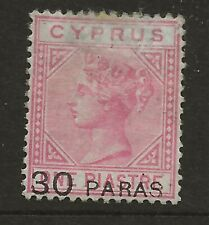 CYPRUS  SG 24  1882  30pa ON 1p ROSE   MOUNTED MINT   ORIGINAL GUM