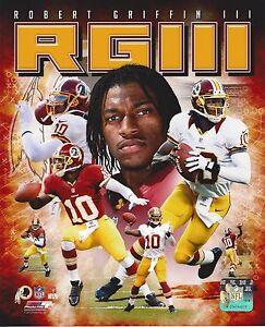 ROBERT GRIFFIN III 8X10 PHOTO WASHINGTON REDSKINS NFL FOOTBALL COLLAGE