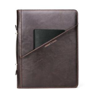 "Retro Leather Tablet Case Fit For iPad Pro 12.9"" Document Portfolio Mutifuction"