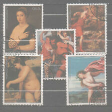 Paraguay stamp used Set -  paintings ART nudes - 0397