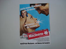 advertising Pubblicità 1971 DENTIFRICIO MACLEENS