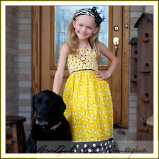 BonEful RTS NEW Boutique Girl 4 5 6 7 Flower L Dot Dress Olivia Pig Necklace Bow