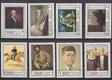 Sharjah 448 - 455 postfrisch, Amerikanische - Meistergemälde