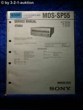 Sony Service Manual MDS SP55 Mini Disc Deck (#6300)