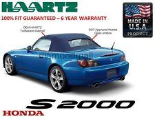 Honda S2000 2002-2008 Convertible Soft Top & Heated Glass Window Blue Twillweave
